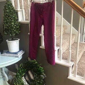 The limited Purple Drew fit ankle slacks